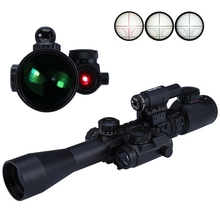 3 - 9X40EG Red/Green Hunting Red Laser Illuminated Riflescope Sniper Scope Sight Holographic Combo crosshair Telescope