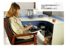 OK-130 & 150 Multifunctoinal Office Desk Edge /Chair Leg Arm Clamping XL Mouse Pad Keyboard Tray Holder Table Side Laptop Desk(China)