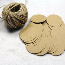 200PCS Kraft Round Paper Gift Cards/Tags for Wedding Party Favor Gift Decoration Scrapbooking Paper Crafts