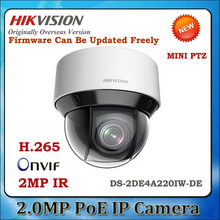 In stock English version DS-2DE4A220IW-DE 2MP network IR mini PTZ camera outdoor,20x optical zoom, P2P ip cctv camera 50m IR(China)