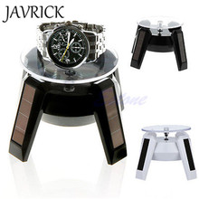 JAVRICK Solar Power 360 Degree Jewelry Rotating Display Stand Turn Plate Table ZB380