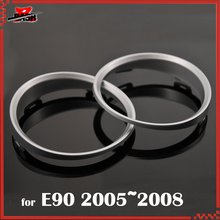 DASH for BMW E90 Silver Cluster Rings Gauge Rings Silver dashboard Rings M3 Look ABS(Taiwan)