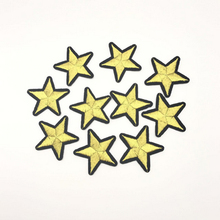 10 pcs / lot fashion yellow Star Patch embroidery logo Kids clothes women Motif Embroidered iron on patches for clothing(China)