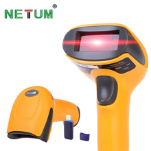 Wireless Laser Barcode Scanner Lange Palette Cordless Bar Code Reader für POS und Inventar-NT-2028(China)