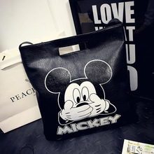 PU Leather Handbag Women Joker Shoulder Bag Large Capacity Mickey Tote Bag Female hello kitty Crossbody Bag baymax handbags