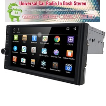 1024X600 2Din Quad Core 1.6GHz CPU 1GB ROM 16G Flash Android 6.0 GPS Navigation Player Stereo Radio SWC BT WIFI 3G built-in maps
