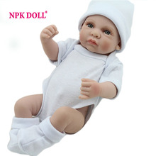 10 inch Lovely Mini Reborn Babies Boy Realistic Lifelike Full Vinyl Handcraft Newborn Baby Doll For Kids(China)