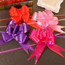 Buy 10pcs/lot 3cm gift box Golden line lace Valentine's Day gift packaging garland Pull flowers ribbon Wedding Birthday Party Decor for $1.55 in AliExpress store