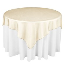 "Hot Sale 25 Colors 180cmx180cm (72""X72"") Square shape Hotel Restaurant Organza Tablecloth Overlay party table runner(China)"