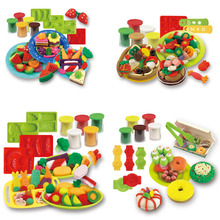 New creative interactive 5 - color clay playdough mold kits set children 's DIY educational toys