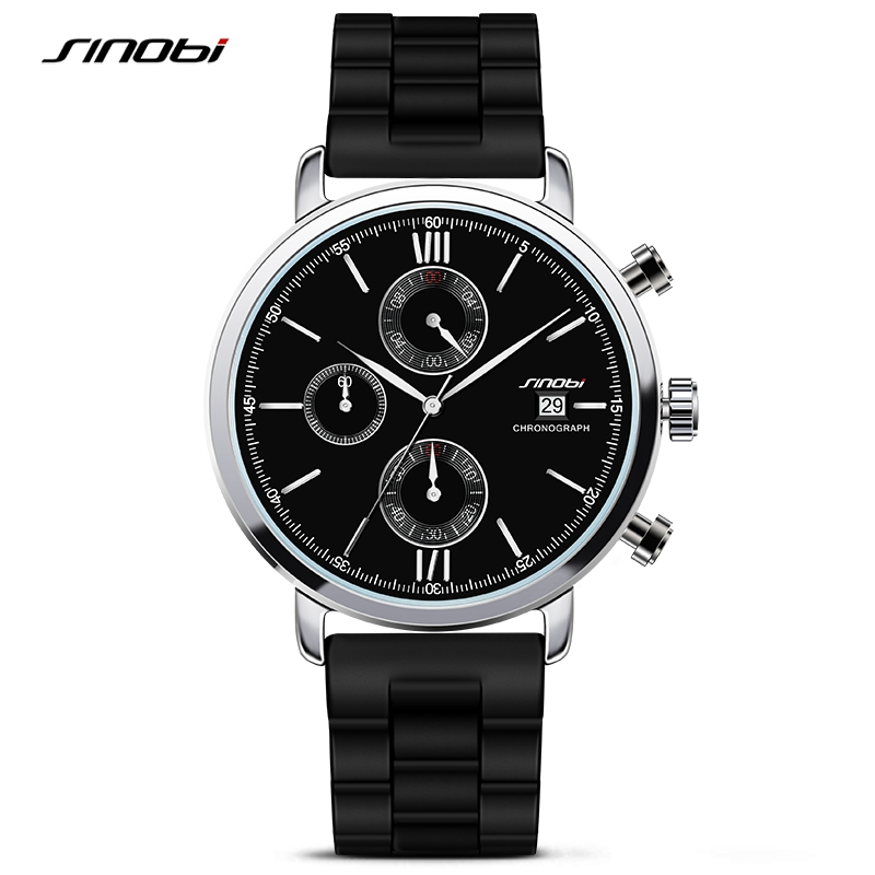 2016 relojes hombre sport Leather Analog Watch Mens Top brand Quartz Watch men Casual Business JAPAN SINOBI relogio masculino<br>