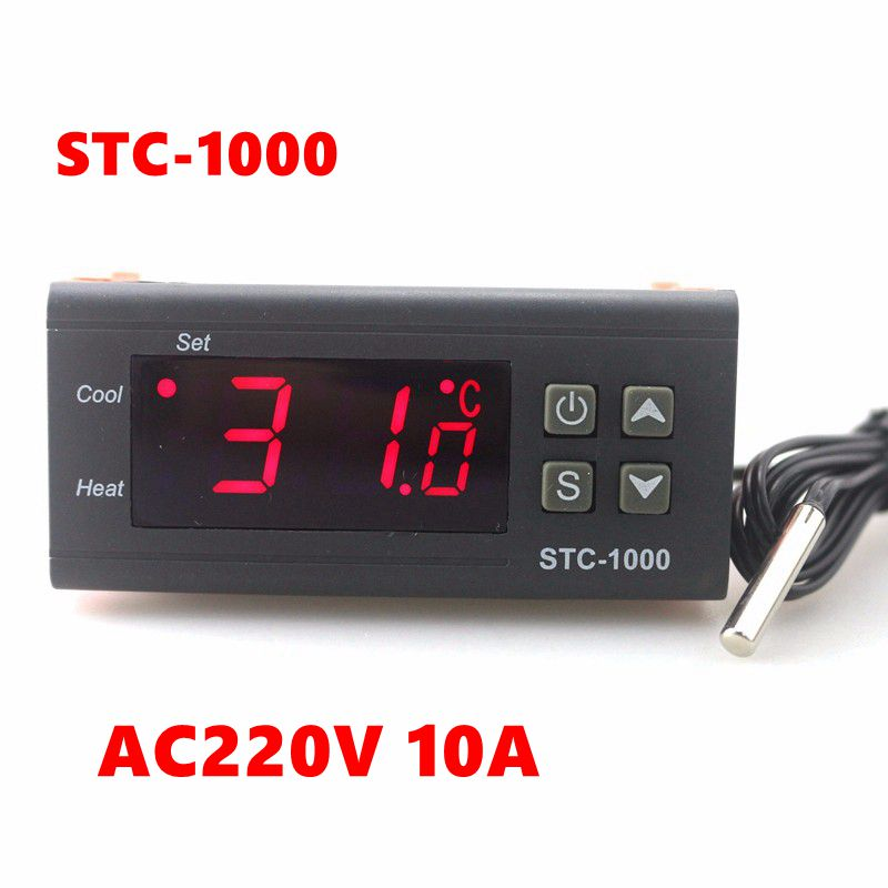 Mini Digital Temperature Controller Aquarium STC-1000 AC220V10A Heating Cooling Control 1m Sensor Automatic Thermostat Regulator<br><br>Aliexpress