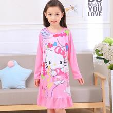 spring and autumn clothes girls pajamas cartoon nightgowns children clothing baby girl dresses princess party dress kids DNS09(China)