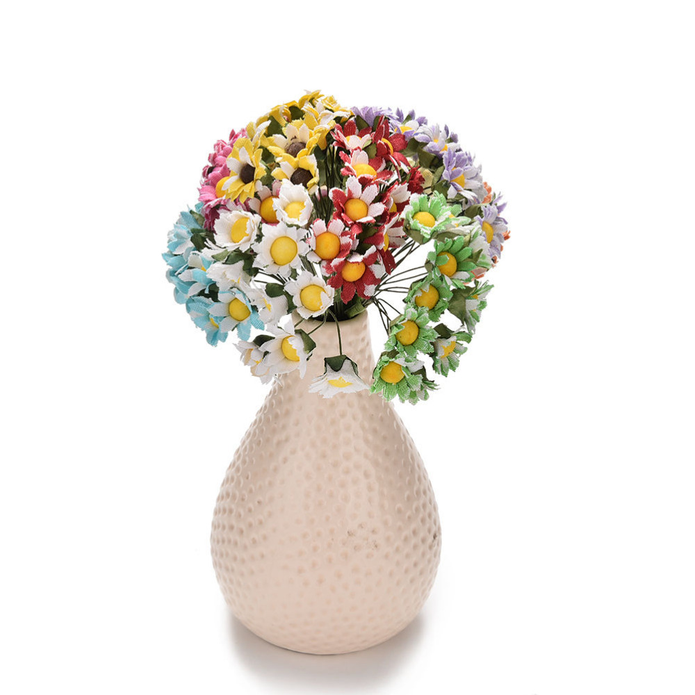 10Pcs/lot DIY Ball Stamen Wedding Decoration Multicolor Mini Daisy Artificial Flowers Scrapbooking Flower flowers Bouquet