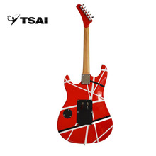 TSAI Electric Guitar Double Locking Tremolo 6 Strings High Quality Music Instrument Solid Wood Basswood Maple ship from USA(China)