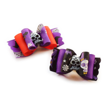 Armi store Handmade Skull Decoration Dog Bow Halloween Dogs Grooming Bows  6026028 Pet Festival Supplies