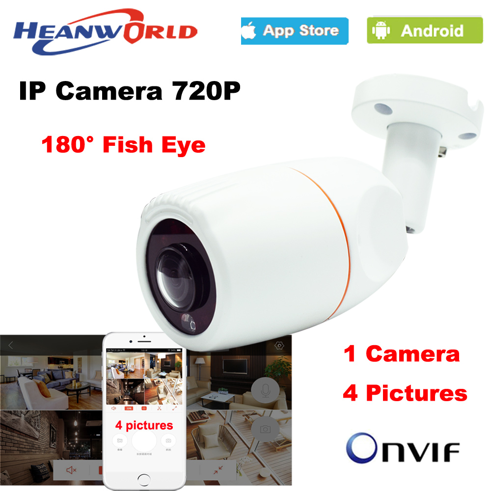 180 Degree Panoramic Fish Eye Lens IP camera 720P outdoor waterproof CCTV network camera ONVIF night vision support APP view<br>