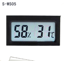 2016 Digital LCD Probe S-WS05 small mini electronic digital display hygrometer/Thermometer onboard car embedded module
