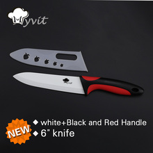 High Quality Ceramic Knife Cooking Tools Single 3''/ 4'/' 5'/' 6'' inch White Blade 6 Color Handle Ceramic Paring kitchen Knives