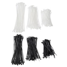 250pcs Nylon Cable Ties set inculdes 3 sizes 3*100 3*150 4*200 Black Color National Standard Self-locking Plastic Wire Zip Tie