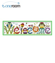 2th The Owl Welcome Card Patterns Counted Cross Stitch 11CT 14CT Cross Stitch Sets DIM Cross-stitch Kits Embroidery Needlework(China)