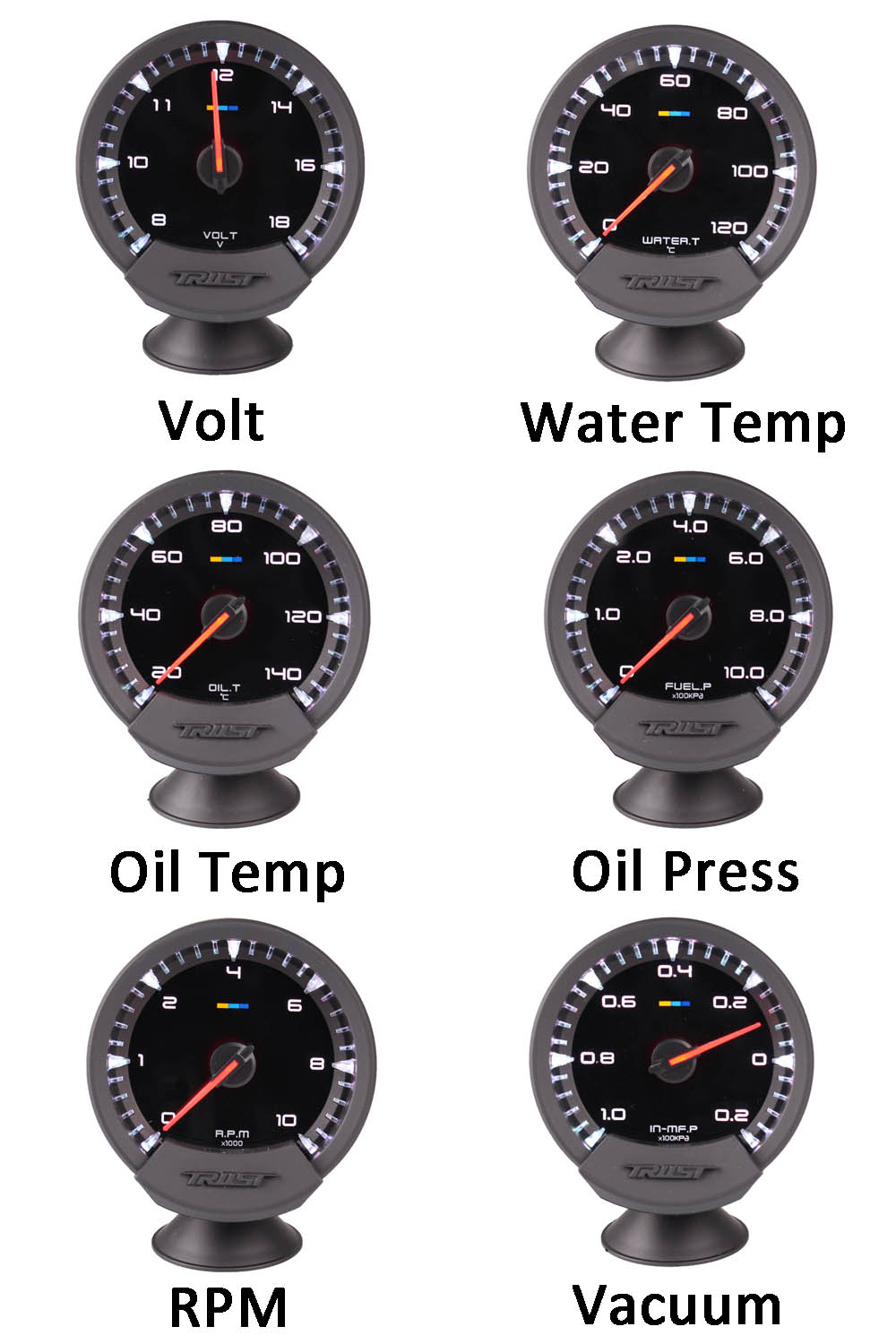 GReddi Sirius Meter Series Trust 74mm 7 colors Water temp Oil Temp Oil Press