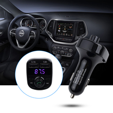 Wireless Bluetooth Car Kit FM Transmitter MP3 Player LED Dual USB 3.1A Quick Charger Voltage Display Micro SD TF Music Playing