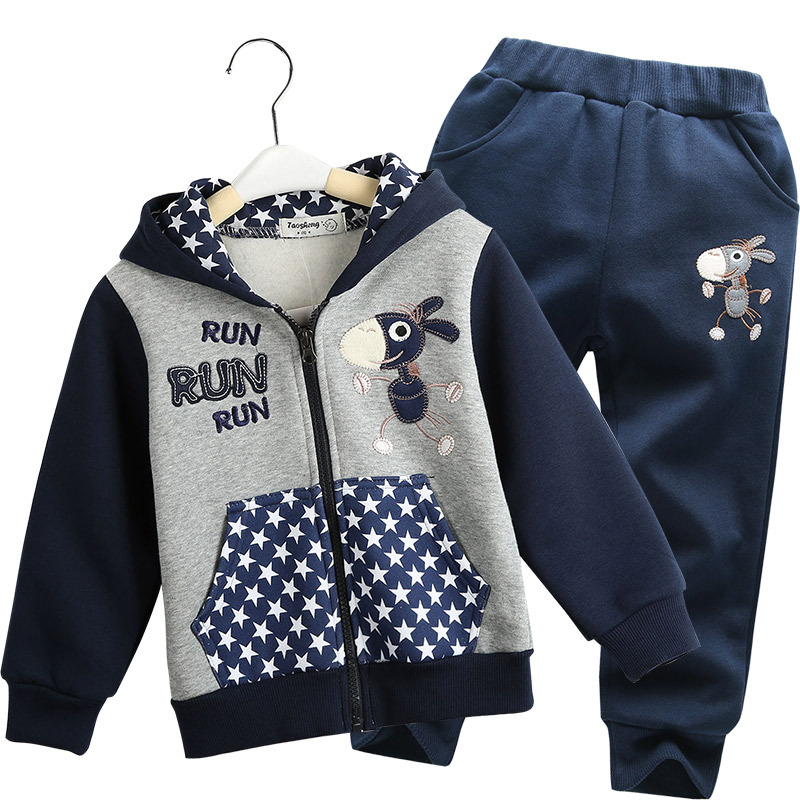 Boy Clothing Sets  Two Pieces Fashion Cartoon Hoodies Childrens Suits For Kids 2-6Y<br><br>Aliexpress