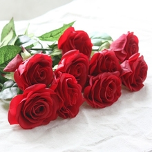 10pcs/Lot Latex Rose Artificial Flowers Real Touch rose Flowers, for Home Wedding Decoration Party or Birthday Free Shipping
