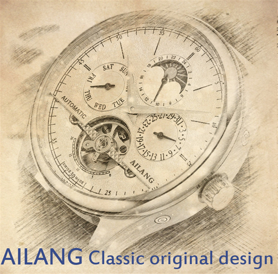 Ailang Classic Day Date Calendar Automatic Tourbillon Genuine Copper Pcb Glass Fiber Heat Resistant Printed Circuit Board 70x90mm Specification