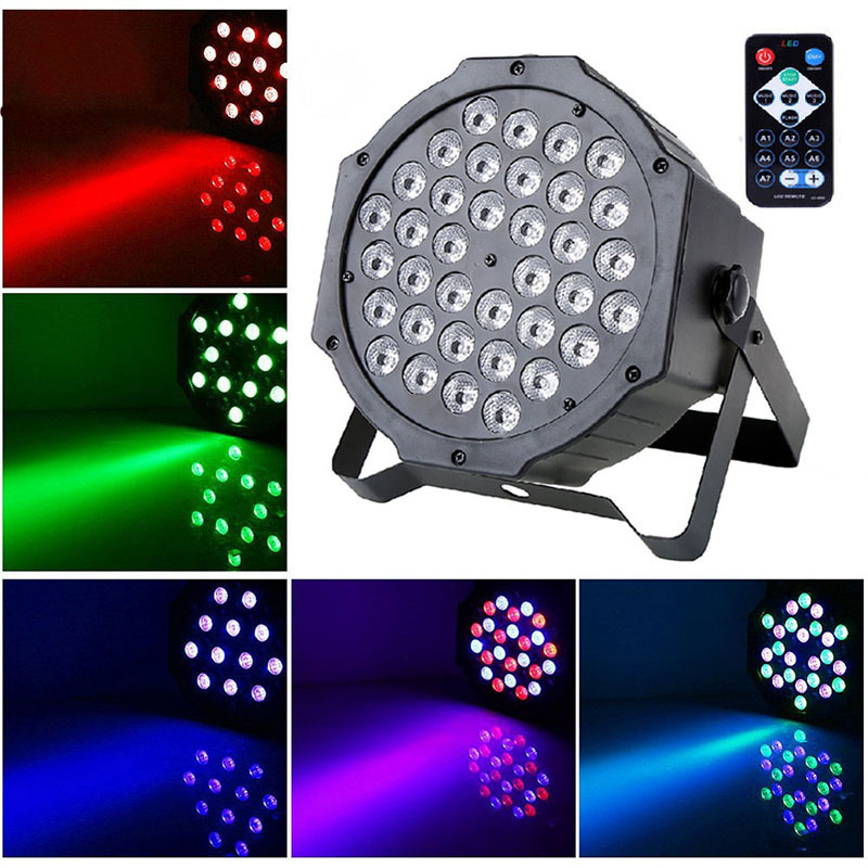 LAIDEYI 36 RGB LED Stage Light Effect Laser Party Disco DJ Bar Effect UP Lighting DMX Projection Lamp KTV Party Light<br>