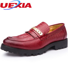 Autumn Leather Formal Brogue Shoes Men Company Business Dress Suit Footwear With Dot Detail Lron Chain Wedding Party Moccasins(China)