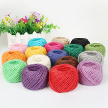 50M/Roll Natural Burlap Hessian Jute Twine Cord Hemp Rope String 2mm Rustic Wrap Gift Packing String Wedding Decoration DIY(China)