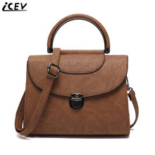 ICEV 2017 new faux suede retro handbag cover women leather clutch bag scrub shoulder crossbody bags handbags women famous brands(China)