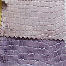 Iridescent Crocodile Grain Synthetic Leather Fabric for DIY accessories making handbags shoes bows and so on P1607(China)