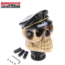 Universal Manual Operation Car Gear Shift Knob Shifter Lever Resin Skull Head Gear Shift Knob