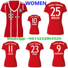 2016 HOT SALES 2017 BEST QUALITY ADULT BAYERNES MUNICHES SOCCER JERSEY 17 18 HOME RED AWAY GRAY MEN SHIRT FREE SHIPPING