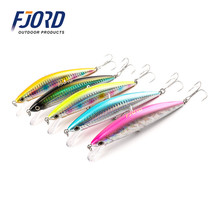 2017 Quality 5pcs/lot 125mm 40g Minnow Laser Hard Professional SwimBait Artificial Bait Equipped VMC Hooks Sinking Fishing Lure(China)