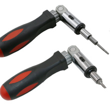 Portable 1/4 Inch Hex Left/ Right 180 Degree Rotating Ratchet Screwdriver Drive Tackle Explosionproof  Tool ALI88