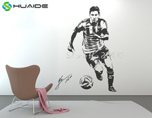 3d Poster Large Wall Decal Sticker Football Player Star Stickers Muraux Vinilos Paredes Sport Soccer Mural SA091A