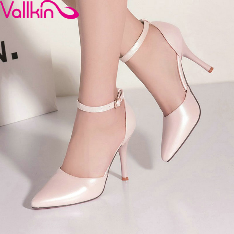VALLKIN Summer Ladies Sexy Soft Leather DOrsay&amp;Two-Piece Pointed Toe Women Shoes Woman Pump Thin High Heel Party Size 34 -43<br><br>Aliexpress
