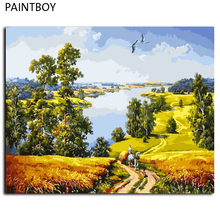 PAINTBOY Framed Landscape DIY Painting By Numbers Wall Art DIY Digital Canvas Oil Painting Home Decor GX9578 40*50cm(China)