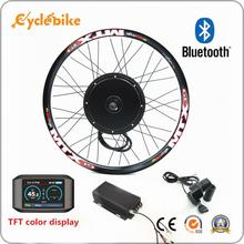 100km/h speed 45H V3 72v 3000w electric bike conversion kit sinewave controller TFT display system(China)