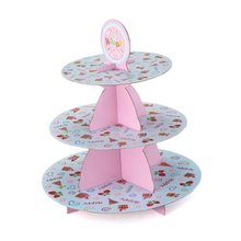 HGHO-100% Good Birthday Party Wedding 3 Tier Cupcake Cake Desserts Stand