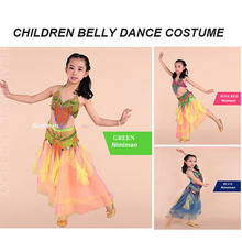 2016 New Arrivals Girl Belly Dance Costume Set Free size Children Bollywood Dance Costumes Children Dance Clothes for Dancer