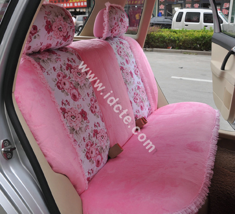 Flower-Print-Lace-Car-Seat-Covers-for-Women-Universal-Short-Plush-Winter-Auto-Seat-Covers-Sets-Interior-Accessories-5
