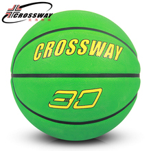 CROSSWAY rubber Basketball Ball Size 7 adult teenager High Quality Indoor Outdoor sports fitness gym equipment Playground 552(China)