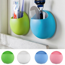 New Toothbrush Holder Bathroom Kitchen Family Toothbrush Suction Cups Holder Wall Stand Hook Cups Organizer Hot(China)