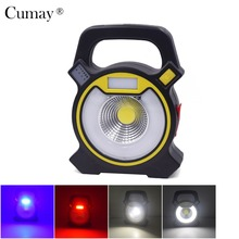 15W 4-Modes COB LED Flood light USB Rechargeable Portable Work Spotlight Floodlight Lamp Camping Light(China)