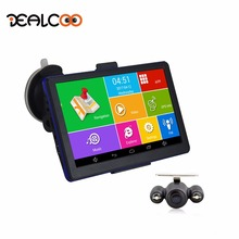 "Dealcoo 7"" Android Car GPS Naviagtion Automobile navigator Bluetooth WIFI Europe/Russia Map Vehicle gps Capacitive(China)"